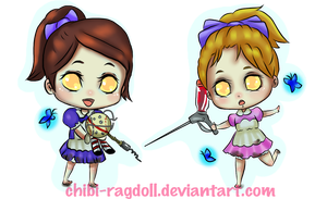Little Sister chibis by Chibi-Ragdoll