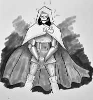 Dr Doom quick sketch by slasher556