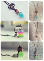 Bottle necklaces 4 by Bea-Gonzalez