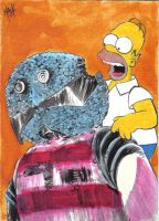 Homer VS The Kandy Man by RobertHack