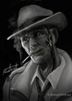 Nick Valentine - Fallout 4 by MeLiNaHTheMixed