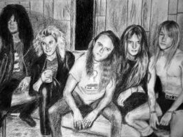 Slash, Duff, Lars, Bas, Axl by MetDeth