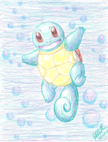 Squirtle by StarGazingKitten