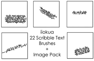 22 Scribble Brushes by iiokua