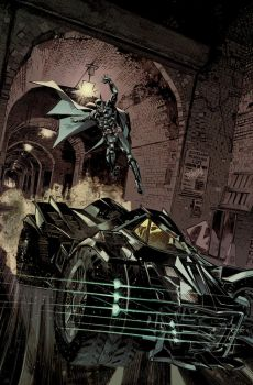 Batman: Arkham Knight Batmobile Cover by urban-barbarian