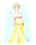 Yellow Dress by iFUGU