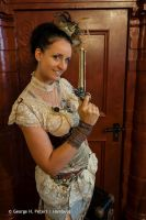 Wearing my Steampunk Outfit by S-T-A-R-gazer