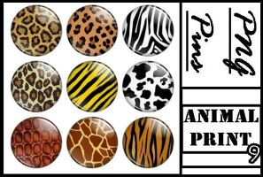 Animal Print PINS PNG by bluezircon-graphics