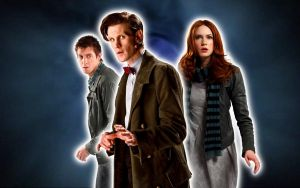 11th Doctor, Amy, and Rory by ElijahVD