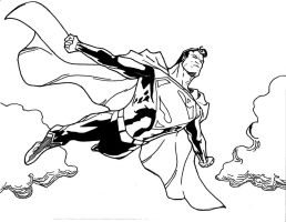 Superman in the clouds by 7daywalk