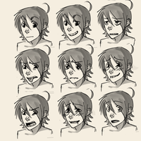 Expressions practice by AtomicRedBoots
