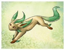 Leafeon by Raven-Panther