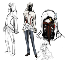 Fray Concept sketches by Chamfruit