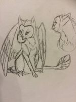 Female OwlFox sketch concept  by AshesAndWings