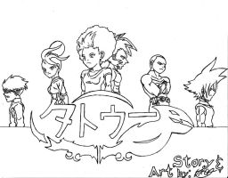 Tattoo Chapter 2 Cover Lineart Cleaned by Dreballin3x