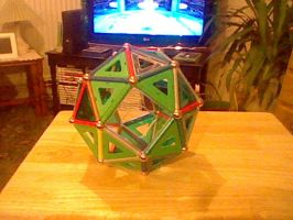 Geomag model - group 2F - Snub Hexahedron by LevelInfinitum