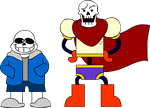 Sans and Papyrus by SuperSmash3DS