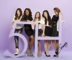 Drawing of Fifth Harmony by BrunaDM