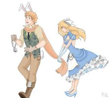 Alice and the White Rabbit by ParadoxParade