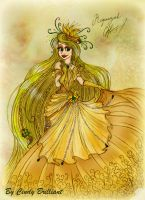 Rapunzel Golden Flower Dress by Cindy-Brilliant