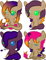 Mocha Orange and Marian Breedable Foals by SeraphineFrost