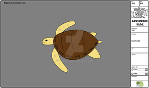 15 Modelsheet Sea Turtle by Migeru-D