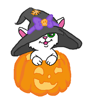 Halloween Kitty Base by zafara1222