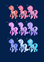 (CLOSED) Pony Adopts! 1 Point Each! by Satoa123