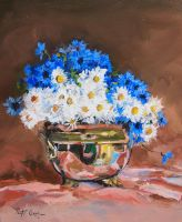 cornflowers and chamomiles by Dreamnr9