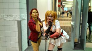 Arkham Poison Ivy and Harley Quinn by Etrigan423