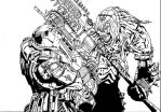 Duel of the century- Marcus Fenix vs Skorge by The-Silver-Spartan