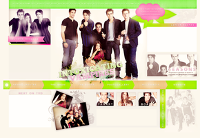 The Vampire Diaries colorfull layout by mon1chka