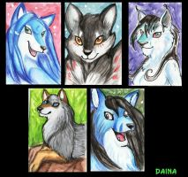 ACEO trades 2 by TigresaDaina