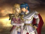 Marth and Zelda by LilLaura6789