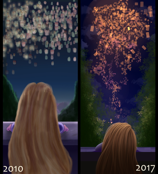 Draw it again: Tangled by AilaTF