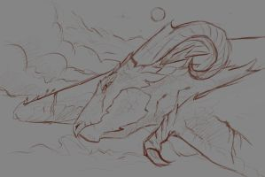 dragon sketch-wip by SunnyFire