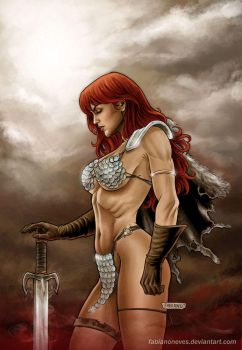 Red Sonja 57 Cover Colors by FabianoNeves