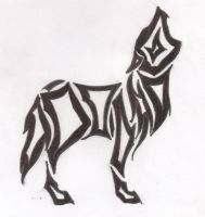tribal standing wolf by Killslay-steelclaw
