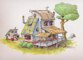 Concept Art: House by JadiGrin