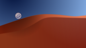 Dunes under Moon by guitarxhero