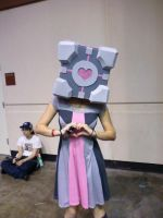 Companion Cube by ThatOtherFangirl