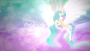 Princess Celestia Wallpaper by Cr4zyPPL