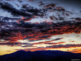 Burning clouds III by digitalminded