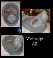 Wolf sculpt WIP by Sharpe19