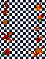 Checkered Leaves - 8.5 x 11 by pumpkin-spice-desu