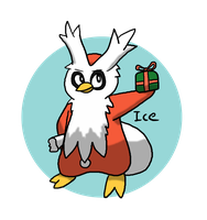 Pokeddex Day 15 - Delibird by Kame-Ghost
