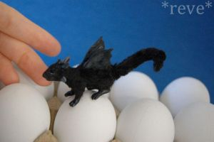 Black Friday! * Handmade Miniature Dragon * by ReveMiniatures