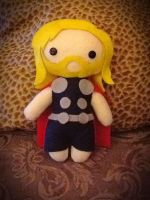 Thor Plushie by jasmineofderpsalot