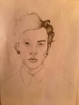 A portrait of a boy WIP by bohemianpoets