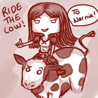 Ride the cow by Oniusha